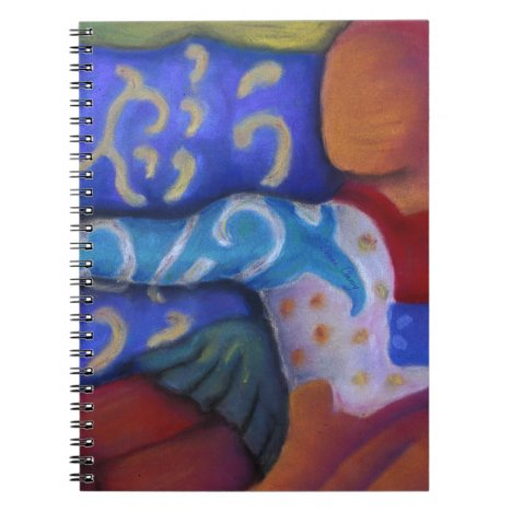 Inside and Out – Azure and Crimson Passage Notebook