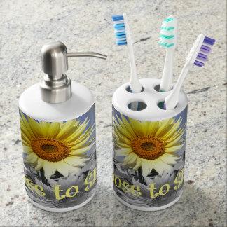 sunflower bath accessory sets | zazzle