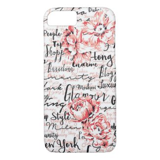 Inspired Life Black White Pink iPhone case