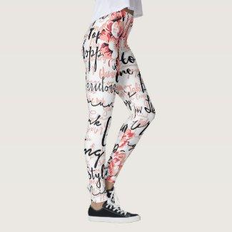 Inspired Life Black White Pink Leggings