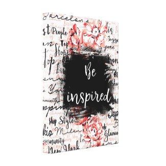 """Inspired Life Canvas Wall Hanging """"Be Inspired"""""""