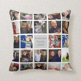Instagram Modern Collage Your Photos Throw Pillow