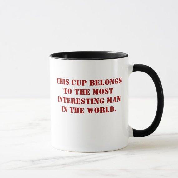 Interesing man cup.