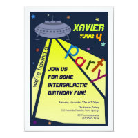 Intergalactic Birthday Party, Invitations