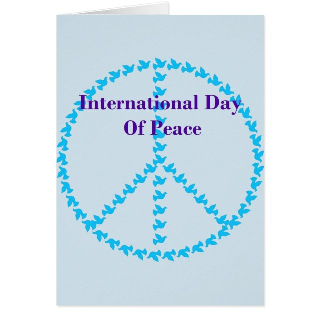 International Day Of Peace Greeting Card
