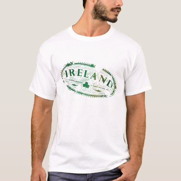 Ireland Green Vintage Postage Seal T-Shirt