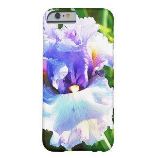 Iris Flower Watercolor in Blue and Lavender Barely There iPhone 6 Case
