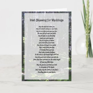 Irish Blessing for Weddings Card card