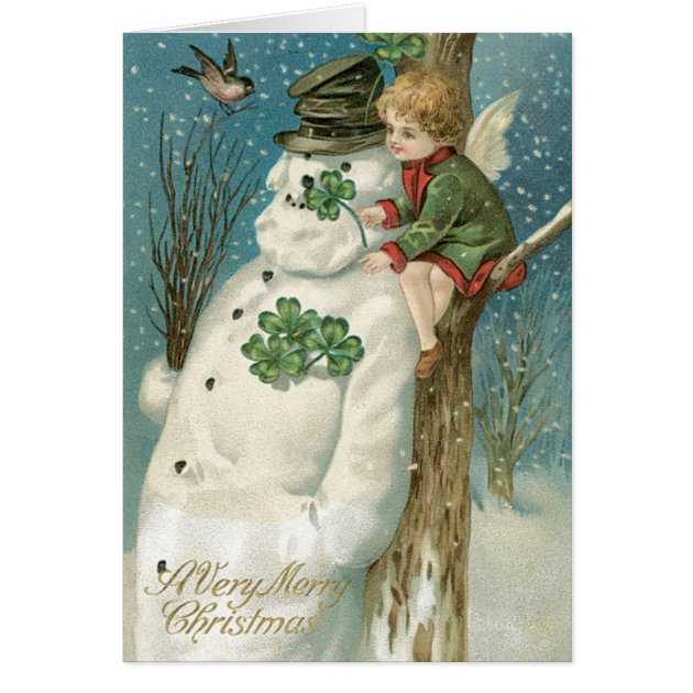 Irish Christmas Cards Authentic Vintage Cards Zazzle