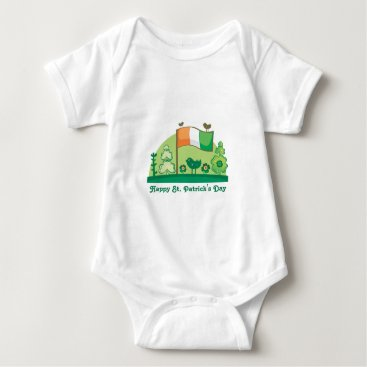 Irish Flag - St Patrick's Day Baby Bodysuit