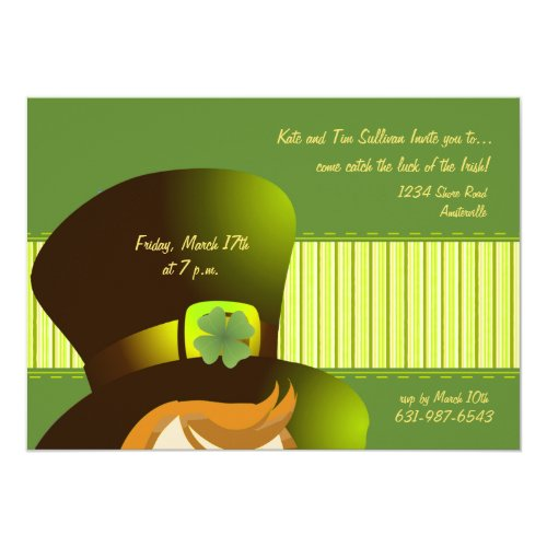 Irish Hat Party Invitation