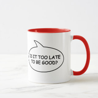 Is It Too Late To Be Good Christmas Penguin Bubble Mug