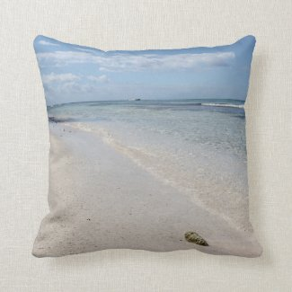 Isla Saona - Caribbean Beach Throw Pillows
