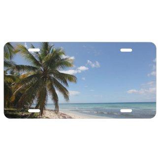 Isla Saona Caribbean Paradise Beach License Plate