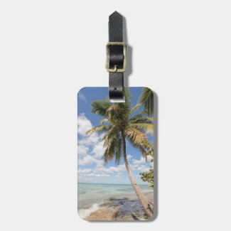 Isla Saona - Palm Tree at the Beach Travel Bag Tags