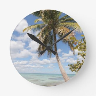 Isla Saona - Palm Tree at the Beach Wallclock