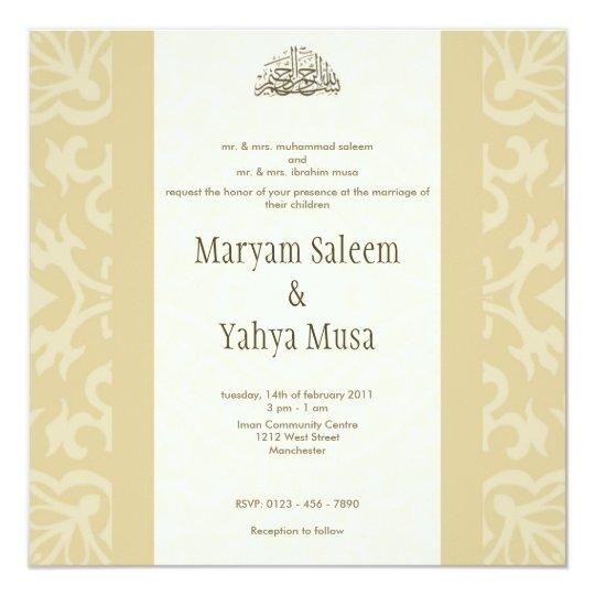 Ic Wedding Enement Damask Invitation Card