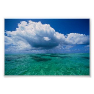 Island of Tahaa, French Polynesia print poster sea ocean