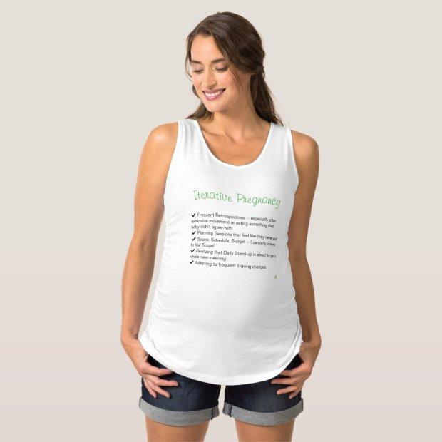 Iterative Pregnancy Tank Top (Agile Humor)