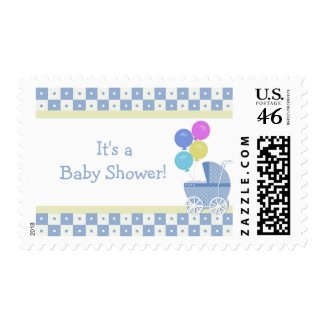 It's a Baby Shower Postage Stamps stamp