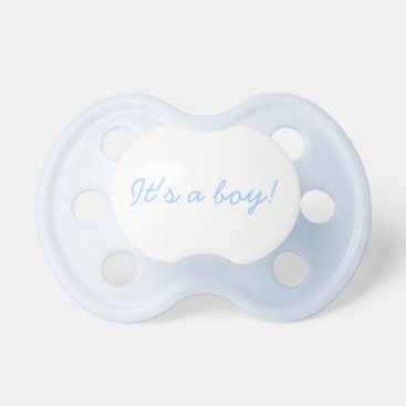 It's a boy! - Blue Binky Pacifier