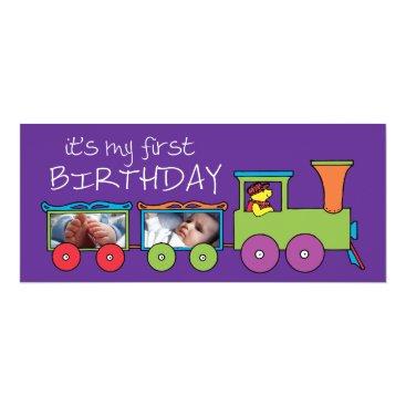 It's My First Birthday Train Invite