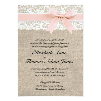 Peach Blossom Personalised Wedding Invitations By Beautiful Day