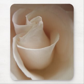 White Rose Bud Mousepad by S.Lynnette