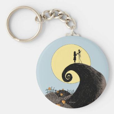 Jack and Sally | Moon Silhouette Keychain