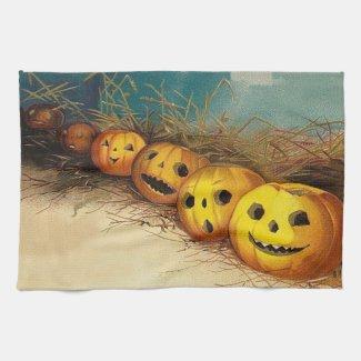 Jack O' Lantern Pumpkin Hay Field