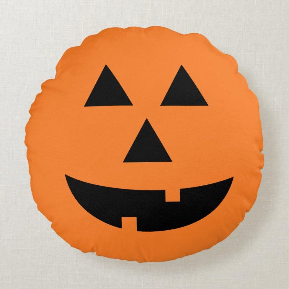 Jack-O-Lantern Pumpkin Orange Halloween Pillow