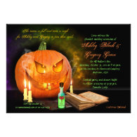 Jack O'Lantern Halloween Wedding Invitation