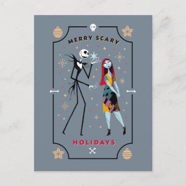 Jack & Sally | Merry Scary Holidays Postcard