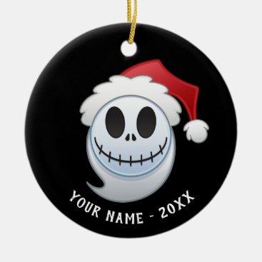 Jack Skellington Santa Emoji Ceramic Ornament