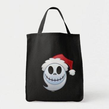 Jack Skellington Santa Emoji Tote Bag