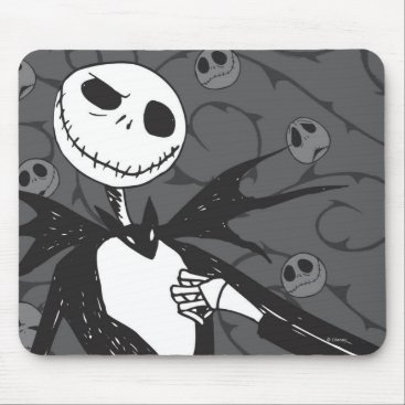 Jack Skellington | Skellington Background Mouse Pad