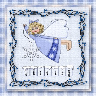 January Angel / Fairy Month Magnet magnet