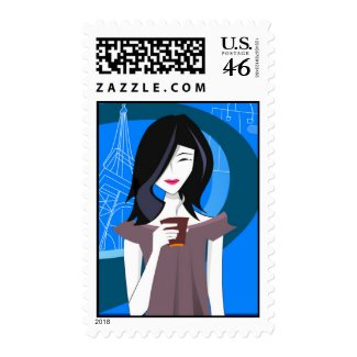 Japanese Girl Postage Stamps stamp