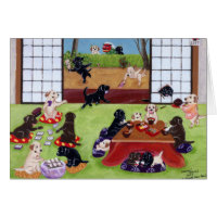 Japanese New Year's Day Labradors Card
