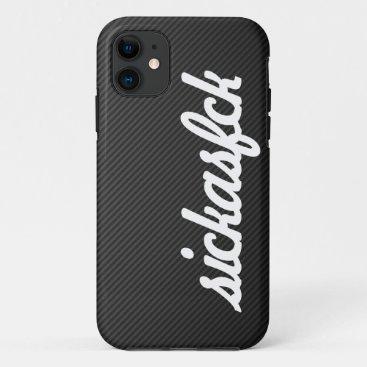 JDM sickasfck faux Carbon Fiber iPhone 11 Case