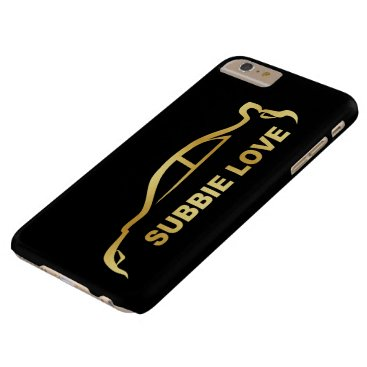 JDM Subby Love (Subaru WRX STI) Gold SIlhouette Barely There iPhone 6 Plus Case