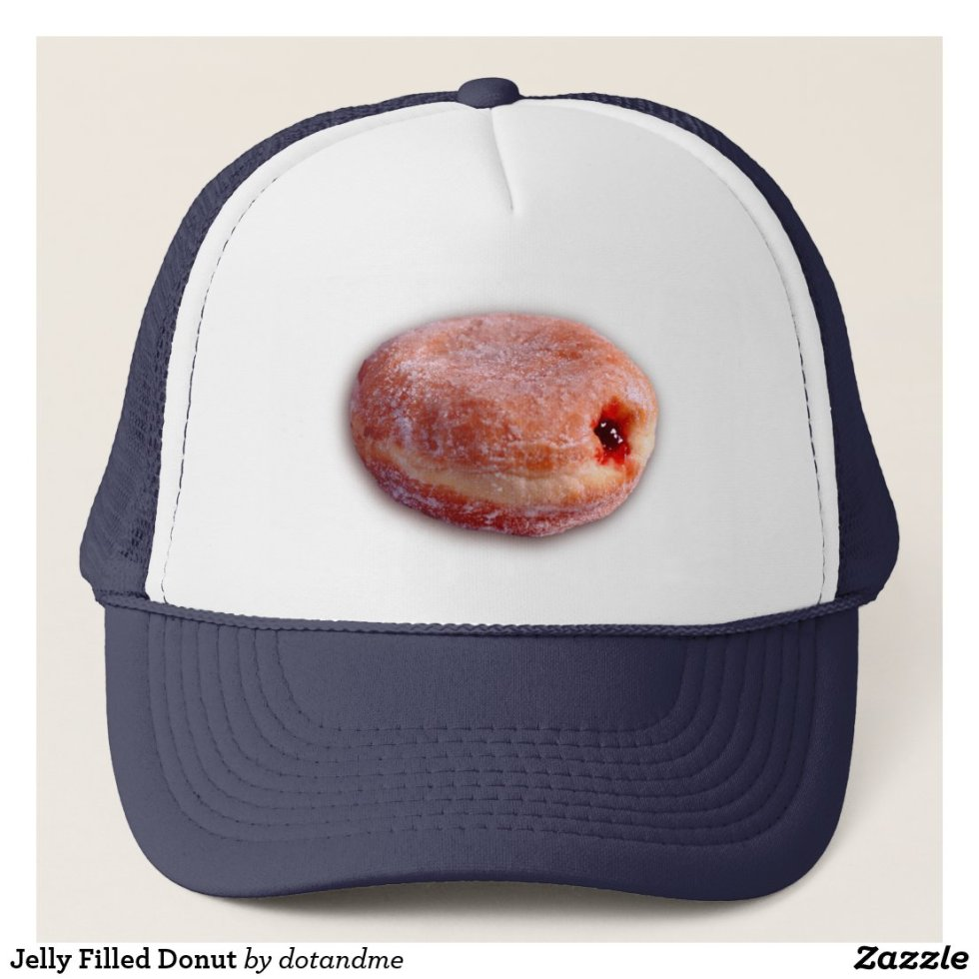 Jelly Filled Donut Trucker Hat