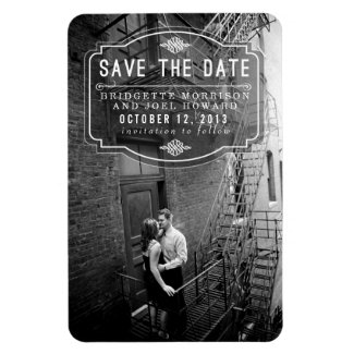 Jeune Amour Vintage Save the Date Magnet
