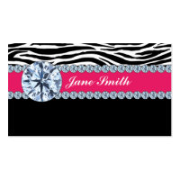 Jeweler Jewelry Zebra Print Diamond Sparkle Double-Sided Standard Business Cards (Pack Of 100)