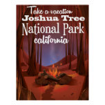 Joshua Tree National Park, California travel Poster