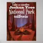 Joshua Tree National Park, California travel Poster
