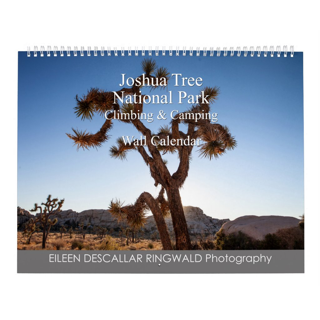 Joshua Tree National Park Climbing and Camping Calendar