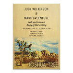 Joshua Tree Wedding Invitation California Park