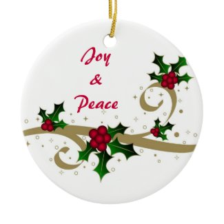 Joy & Peace - Ornament ornament