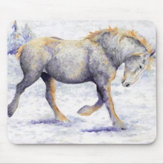 Joy - Percheron Horse Mouse Pad mousepad